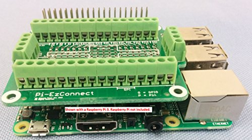 Connector for Raspberry Pi 3 GPIO and Raspberry Pi 2 Pi-EzConnect, Alchemy Power Inc A HAT and GPIO to connect sensors to a Raspberry pi-3 and PI-2.