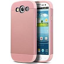 Carcasa S3, ULAK Galaxy S3 Funda Case dura para Samsung Galaxy S3 Anti Golpes de Silicona con Protector de Pantalla (Oro rosa)