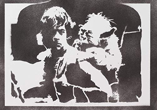 Póster Luke Skywalker Y Yoda STAR WARS Grafiti Hecho A Mano - Handmade Street Art - Artwork