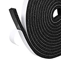 Fowong Foam Sealing Tape with Adhesive High Density Home Window Door Draught Excluder Weather Strip Seal 12mm Wide x 6 mm Thick, Total 4M Long (2 Rolls of 4M Long Each)