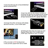 VGA to HDMI Adapter/Converter with Audio, (PC VGA Source out to TV/Monitor with HDMI Connector),FOINNEX Active Male VGA in Female HDMI 1080p Video Audio Adattatore for Computer,Projector