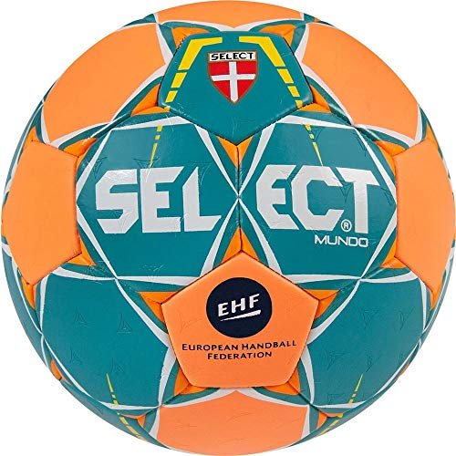 Select Mundo-Balón de Balonmano, Color türkis/Orange, tamaño 0