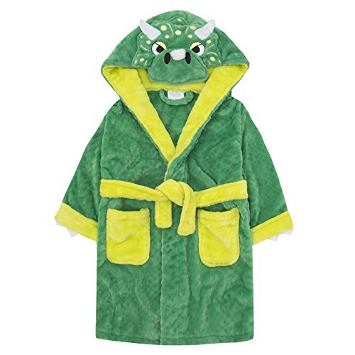 Preisvergleich Produktbild Jungen Monster Bademantel 2-3Y Jahre bis zu 5-6Y Jahre viele von inkl. Zähne Schwanz und Kapuze - Grün, 104