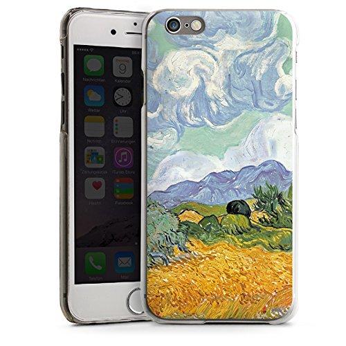 Apple iPhone 6 Housse Étui Silicone Coque Protection Vincent van Gogh Champ de blé avec cyprès Art CasDur transparent