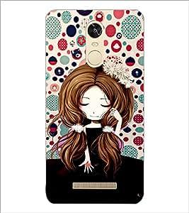 PrintDhaba Cute Girl D-3920 Back Case Cover for XIAOMI REDMI NOTE 3 (MEDIATEK) (Multi-Coloured)