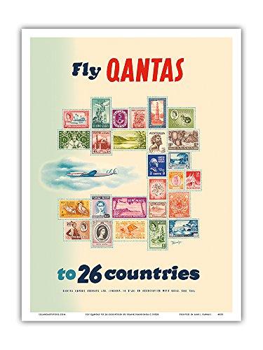 fliegen-sie-mit-qantas-in-26-lnder-briefmarken-der-welt-vintage-retro-fluggesellschaft-reise-plakat-