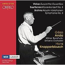 Weber: Euryanthe-Ouvertüre / Beethoven: Klavierkonzert 3 / Brahms: Haydn-Var.