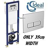 Ideal Standard Cadre WC Chasse d'eau WC encastré mural & plaque chrome bouton