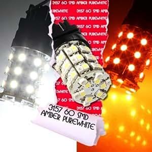 T25 3157 3457 3057 60LED 3528SMD Ampoule Lamp Clignotant Turn Light