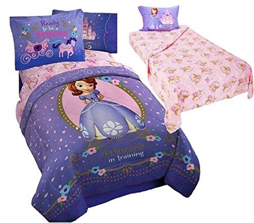 Disney Sofia die Erste Prinzessin 6Twin Größe Betten (Tröster, Zwei kissenrollen und 3Blatt Set)