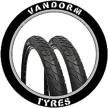 "Vandorm Wind 195 - Pack de neumáticos de bicicleta MTB 26"" x 1.95"", color negro"