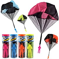 HEYME 1 PCS Mano lanzando paraCaídas Soldados niño Educativo Juguete Creativo al Aire Libre paraCaídas al Azar Color