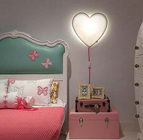DMMSS Liebe Wand Lampe Dekoration Kinderzimmer Möbel Herzförmige Baby Spielzeug Led Wandleuchte