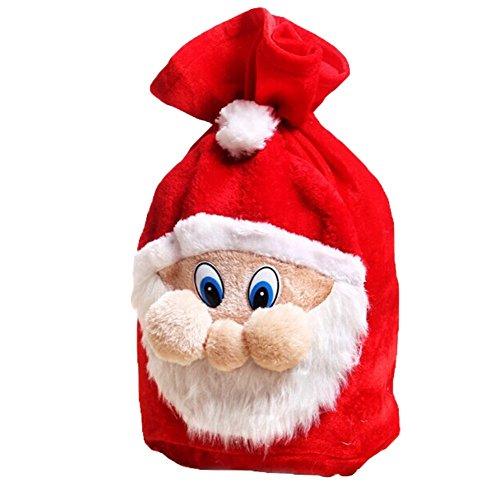 drawihi Neue kreative Paket Speicherkapazität Dekoration Weihnachten Tasche Candy Geschenktüten Weihnachten Santa Claus vorliegenden zum Aufhängen Weihnachten Dekoration Haus Schneemann 50* 32cm (Cestas De Regalo)