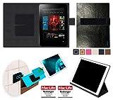 reboon Custodia per Amazon Kindle Fire HD 8.9 | in Cuoio Nero | Cover Case Caso Multifunzionale
