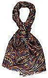 Lorenzo Cana High End Luxus Schal 100% Seide in harmonischen Farben bedruckt doppellagig Seidenschal Seidentuch Tuch Dandy Style 30 x 160 cm