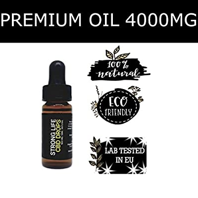 StrongLife 40% Hemp Oil, Whole Plant Oil, 4000mg, Full Spectrum, 100% Pure, Natural & CO2 Extracted Herbal Oil – Anti-inflammatory & Rich in Omega-3 & Omega-6 Fatty Acids to help relieve Pain, Stress & Anxiety – Developed in the USA by STRONGLIFE CBD