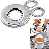 Uovo in Acciaio Inox Cucina Gadget Egg Topper Cutter Clipper per Hard e Soft Uovo Sodo