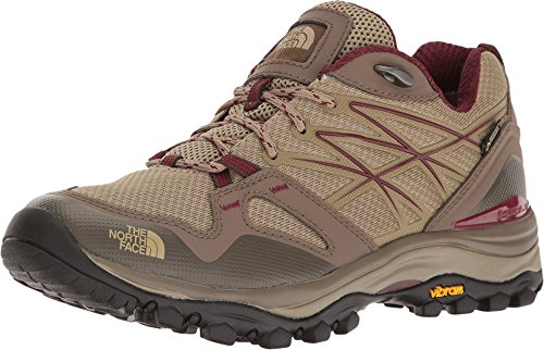 North Face Womens Hedgehog (The North Face Women's Hedgehog Fastpack Gore-TEX Hiking Shoe Dune Beige/Deep Garnet Red Size 7 M US)