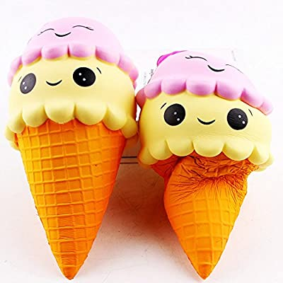 Lishy Cute Super Jumbo Squishies Exquisite Fun Ice Cream Scented Squishy Slow Rising Simulation Kid Toy Charm Gift Stress Reliever for Children and Adult