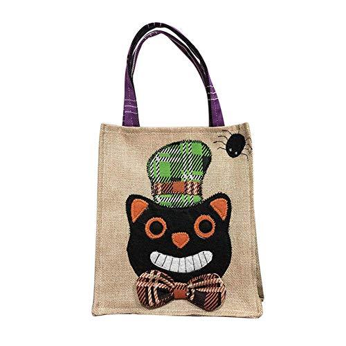 Majome Halloween-Geschenk-Tasche Süßes sonst Gibt's Saures Drawstring-Süßigkeits-Taschen Handtasche Kürbis-Hexe-Tasche für Kindergeschenke