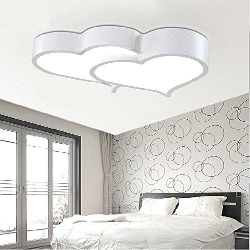BLYC- Moderne minimalistische Schlafzimmer-Lampe kreative -Deckenleuchte Licht Nordic Herzförmige Kinder Zimmer stufenlose Licht Deckenleuchte , white (Für Schlafzimmer Kitty Lampen Hello)