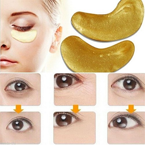 lnlyin-10-pcs-moisturizing-eye-patches-sheet-beauty-gold-crystal-collagen-eye-mask