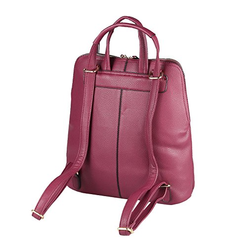 OBC Only-Beautiful-Couture, Borsa a zainetto donna Rosso Bordo 32x32x14 cm ca.: 32x32x14 cm (BxHxT) Bordo 32x32x14 cm