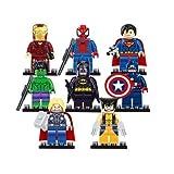 8Mini-Figuren Avengers Superhelden, Batman, Thor, Hulk, passend für Lego, Sonstige, 8Pcs - 874305, Einheitsgröße