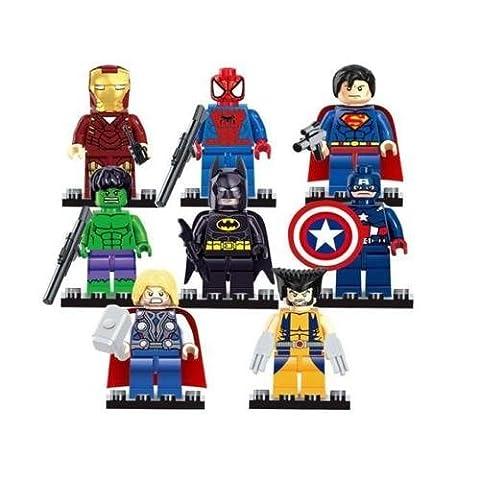 8Neuheit Avengers Superhelden Batman Thor Hulk Mini Figuren Fit Lego Toys C, Sonstige, 8Pcs - 874305, Einheitsgröße