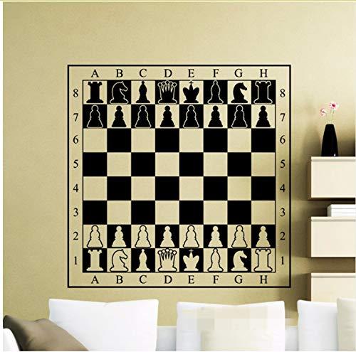 Lvabc Schachbrett Decal Schachfiguren Schachbrett Wand Vinyl Tisch Aufkleber Zimmer Design Interior Art Decor Kühlen Wandbild 58X58Cm
