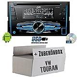 VW Touran - JVC KW-R520E - 2DIN Autoradio Radio - Einbauset