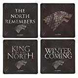 Game of Thrones Cork-Back Coaster Set (Stark)