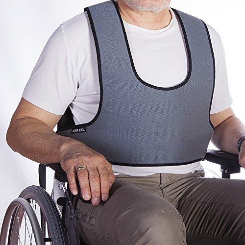 Mobiclinic Befestigungsweste für Rollstuhlfahrer, Stühle und Sessel, Größe 2 (89-178 cm)