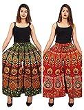 Trapti Jaipuri Cotton Printed Palazzo Pants for Women's | Traditional & Stylish Combo Palazzos for Girls (Free Size)