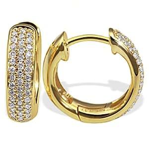 Goldmaid Damen-Creolen Gelb Gold 585 86 Diamanten 0,34