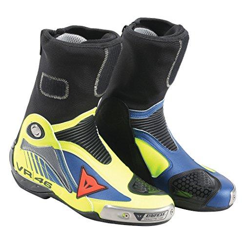 DAINESE Stivali da Moto, Fluo Giallo/Yamaha Blu, Taglia 41