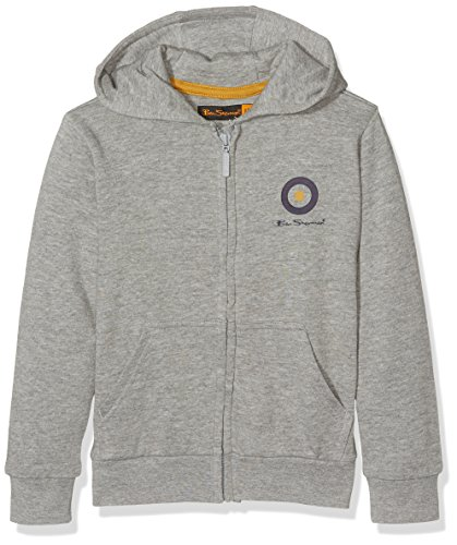 ben-sherman-zip-up-sweat-shirt-a-capuche-garcon-gris-grey-marl-10-11-ans-taille-fabricant-10-11-ans