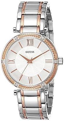 Guess W0636L1 - Reloj con correa de metal, para mujer, color plateado
