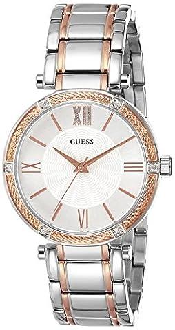 Guess–Bracelet à quartz analogique acier inoxydable w0636l1