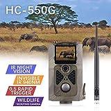 DJLOOKK Cámara de Caza HC300M Cámara de Caza gsm 12MP 1080P Trampas fotográficas Visión Nocturna Fauna infrarroja Rastro Caza Cámaras Caza Scout Caza