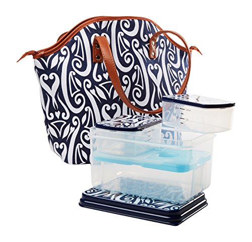 fit-fresh-davenport-stylish-insulated-bag-kit-with-lunch-on-the-go-reusable-container-set-zipper-clo