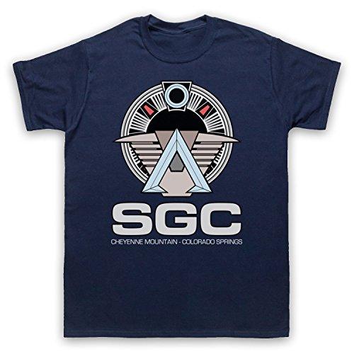 Inspiriert durch Stargate SGC Unofficial Herren T-Shirt Ultramarinblau