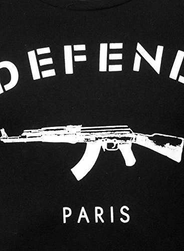 Sweat Paris Crew Black Defend Noir