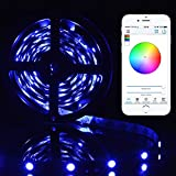 Sunix® 5M 16.4ft SMD RGB 5050 12V DC LED Flexible Strip Light Colour Changing Lighting Non-waterproof for Home Decorative