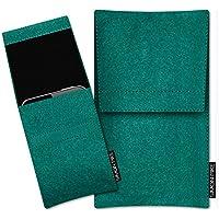 SIMON PIKE Samsung Galaxy S9+ Filztasche Case Hülle 'Sidney' in smaragd 1, passgenau maßgefertigte Filz Schutzhülle aus echtem 100% Natur Wollfilz, dünne Tasche im schlanken Slim Fit Design für das Galaxy S9+
