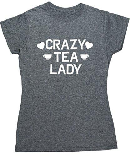 HippoWarehouse Damen T-Shirt Grau Meliert