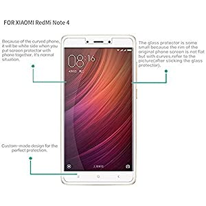 Angel Gadgets Golden Series Tempered Glass Screen Protector For Xiaomi Redmi Note 4 / mi note 4 / redmi note4 / mi note4 / Tempered Glass