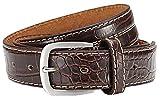 Eg-Fashion Eleganter Herren Pu-Leder Anzug Gürtel Schlangenleder Optik 3,5 cm Breite- Individuell kürzbar (Bundweite: 105cm = Gesamtlänge: 120cm)