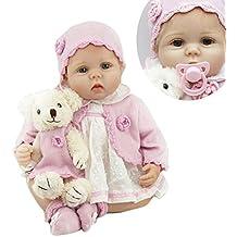 Nicery Reborn Baby Doll Renacer Bebé la Muñeca Vinilo Simulación Silicona Suave 22 pulgadas 55cm Boca
